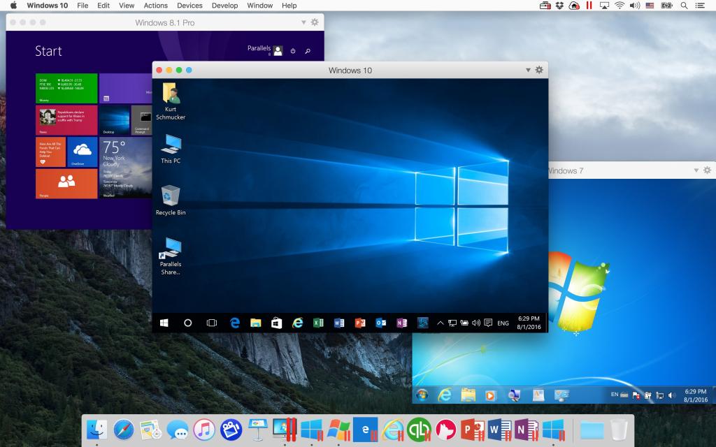 Windows на Mac через Parallels Desktop