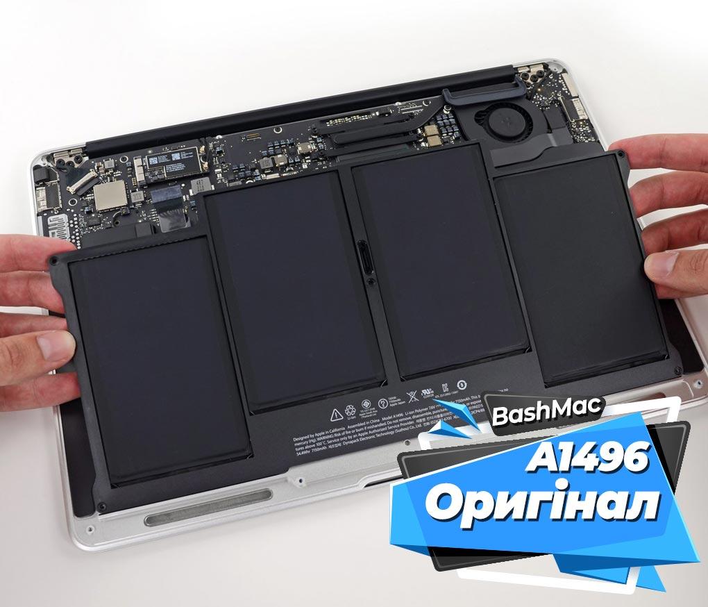 оригінальна акумуляторна батарея A1496 для MacBook Air 13'' A1466 та A1369