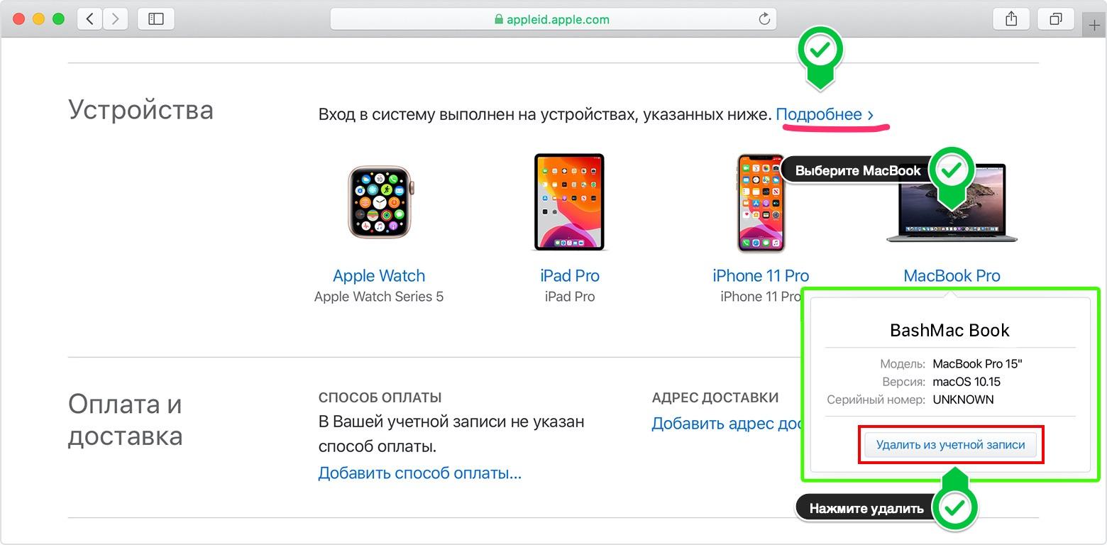 Відключення Apple ID та Find My на Mac