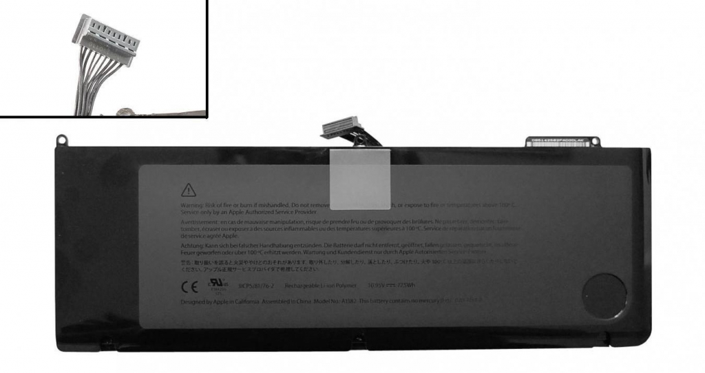 б.у. батареї для MacBook Pro Unibody 17
