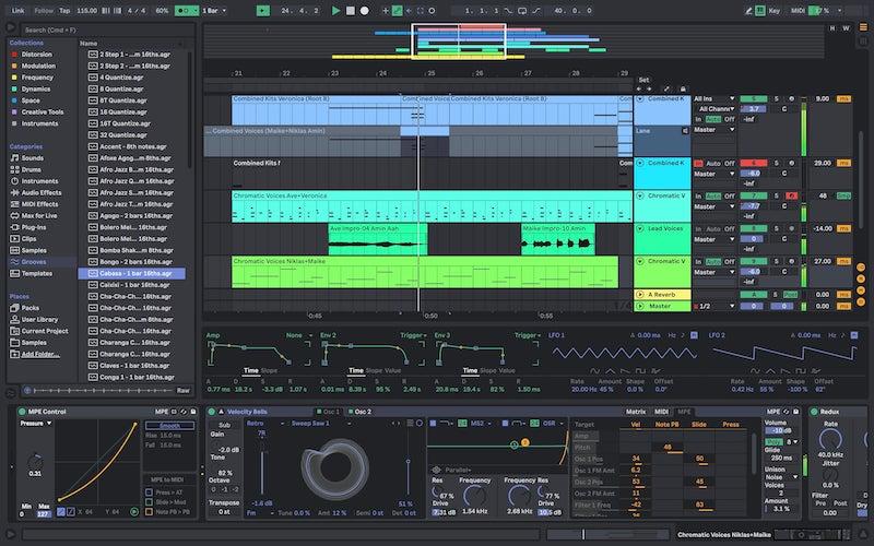 програма Ableton Live на macOS